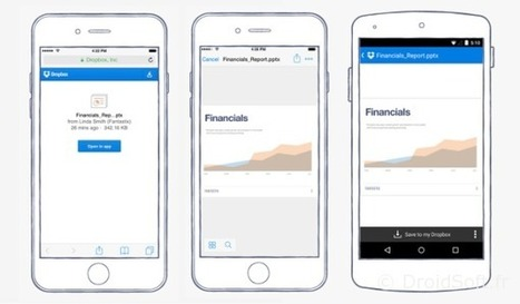 Dropbox ouvre enfin les liens partagés dans l'app   netnavig   Scoop.it