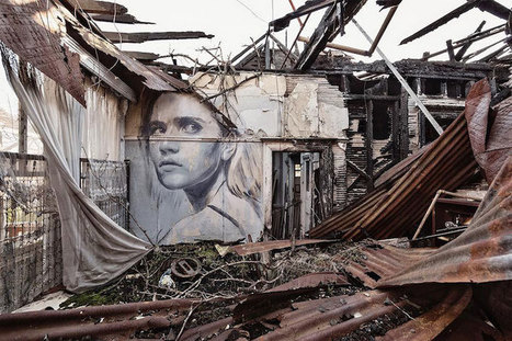 Street Artist Creates Crumbling Portraits on Abandoned Buildings to Reveal the Fragility of Beauty | Le It e Amo ✪ | Scoop.it