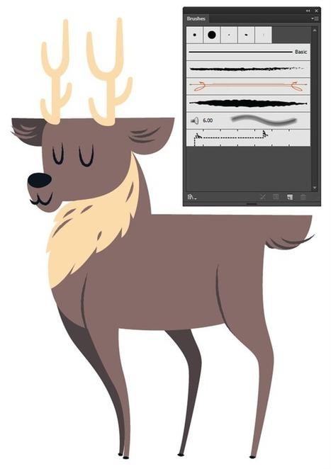 Create a Cute Deer Illustration in Adobe Illustrator - Tuts+ Design & Illustration Tutorial   Formation en Publication Assistée par Ordinateur (PAO) Formation   Scoop.it