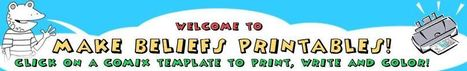 FREE Printables from MakeBeliefsComix | technologies | Scoop.it