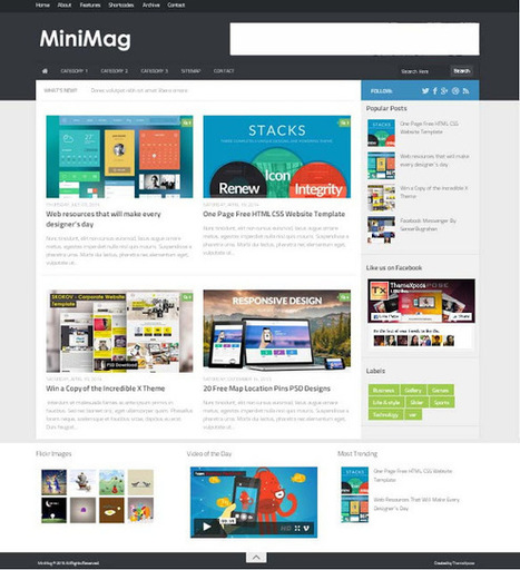 Minimag Blogger Template Free Download Softwa