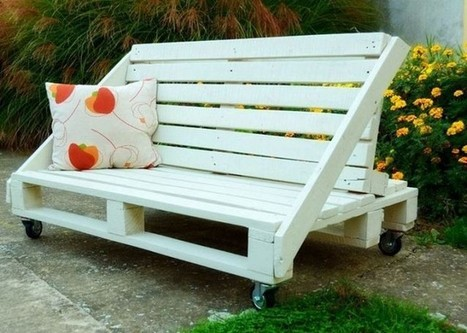Sensational Pallet Garden Benches In Pallet Wood Projects Scoop It Creativecarmelina Interior Chair Design Creativecarmelinacom