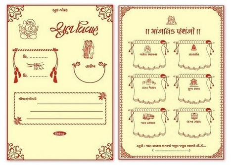Gujarati Kankotri In Designer Wedding Cards Scoop It