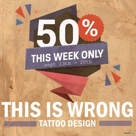 1e64772e90f9c Annual 50% Off Tattoos Sales by THIS IS WRONG