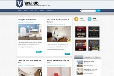 Vicarious is a WordPress Theme by ThemeWarrior | WP Daily Themes | Free & Premium WordPress Themes | Scoop.it