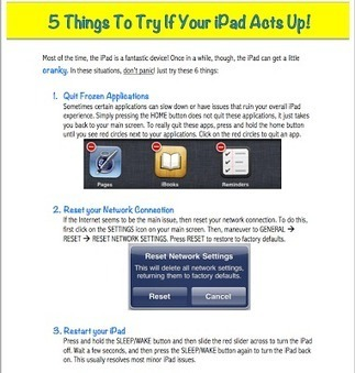 5 Things to Try When your iPad Acts Up ~ Educational Technology and Mobile Learning | Learning Commons | Library Commons | Faculty Services pages|ideas | Scoop.it