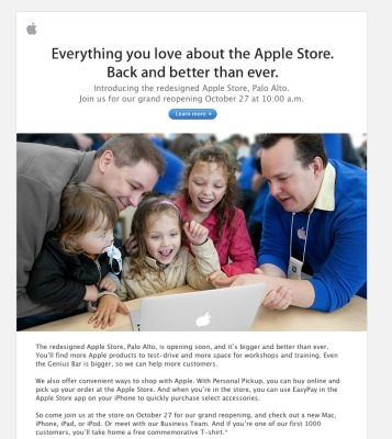 New Palo Alto Apple Store scheduled for Oct. 27 grand opening | Programación iphone | Scoop.it