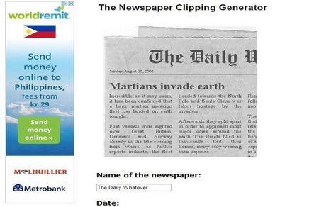 Crea imagen con noticia falsa en diario para bromear | Herramientas web para contar historias - storytelling | Scoop.it