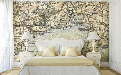 World Map Wallpaper In Interior Wallpaper Scoop It