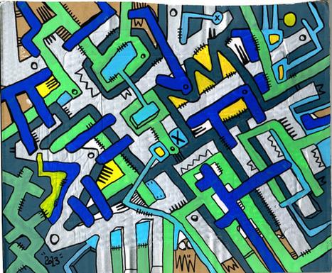 Geometrik sur carton | The art of Tarek | Scoop.it