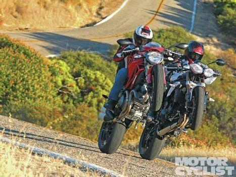 Ducati Monster 1100 EVO Vs. Triumph Speed Triple - Motorcyclist Magazine | Ductalk Ducati News | Scoop.it