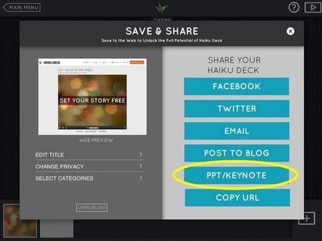 Haiku Deck to PowerPoint & PowerPoint to Haiku Deck | Digital Literacy - tips & tricks | Scoop.it