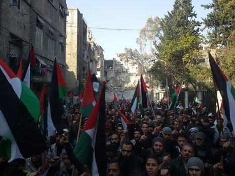'No to martyrdom by hunger in #Yarmouk camp': #Palestinians #refugees protest #Assad's siege | Anti-Exploitation | Scoop.it