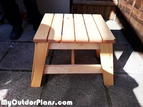 Diy Modern Side Table Myoutdoorplans Free W