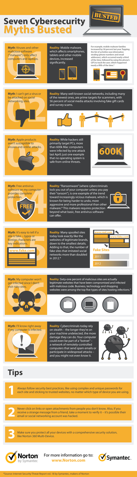 7 Cybersecurity Myths Busted [Infographic] | prepa | Scoop.it