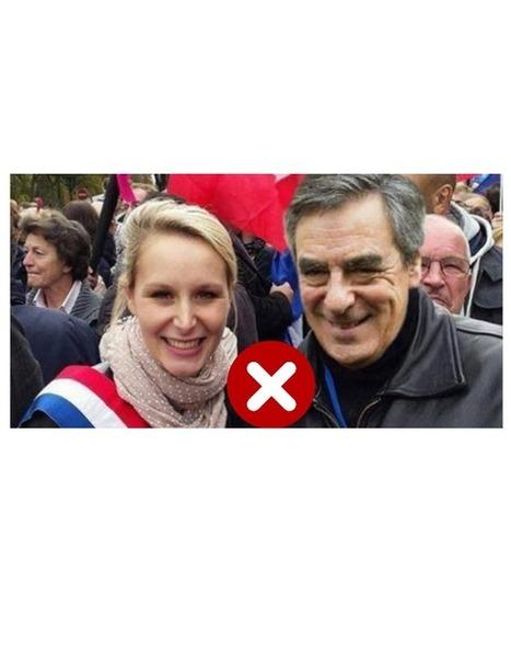 François Fillon en photo avec Marion Maréchal-LePen? C'est un montage | Images fixes et animées - Clemi Montpellier | Scoop.it