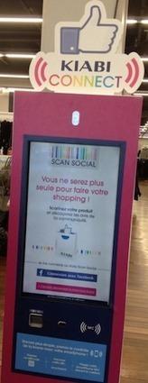 """Kiabi Connect : des bornes interactives pour doper le """"shopping social""""   Le commerce à l'heure des médias sociaux   Scoop.it"""