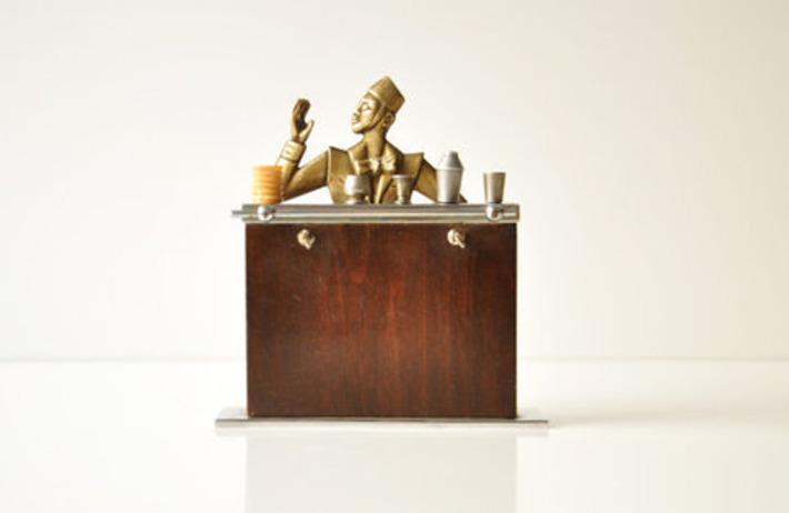 Vintage Art Deco Barware Set Mini Bar With Cocktail Picks | Antiques & Vintage Collectibles | Scoop.it