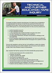 TAFE survey snapshot – Parliament of Australia | TAFE Vocational Education and Training | Scoop.it