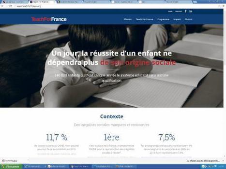 «Teach for France», un danger pour l'école publique - Humanité | La révolution numérique - Digital Revolution | Scoop.it