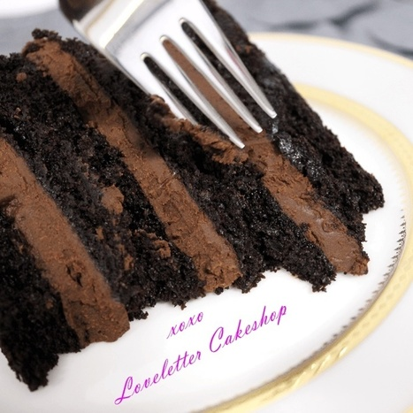 Loveletter Cakeshop's Vegan Double Chocolate Cake Recipe | My Vegan recipes | Scoop.it