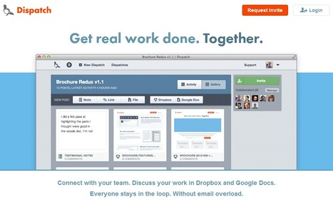 Dispatch : Get real work done. Together.   Time to Learn   Scoop.it