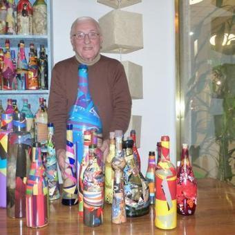 Gilbert Wynans, artiste bruxellois de 86 ans, mis en demeure de détruire toutes ses bouteilles Tintin   Belgitude   Scoop.it