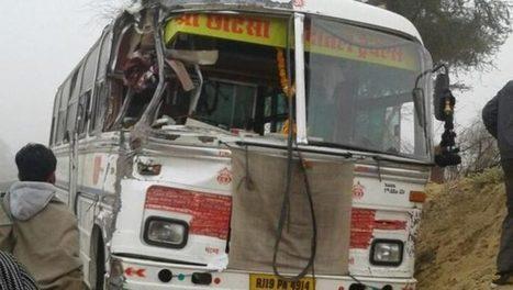 24 Kids were Killed after School bus collides with truck in Aliganj, Etah (UP) – Prachur | News | Scoop.it