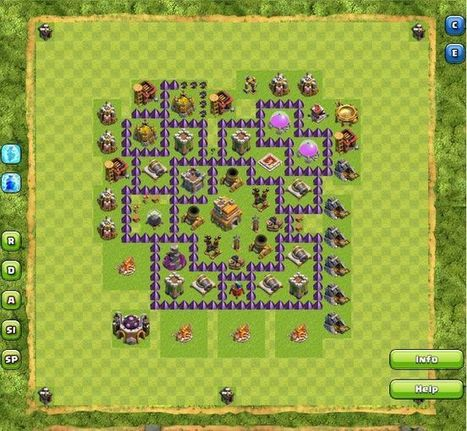 Top Clash Of Clans Town Hall 7 War Base Layouts...