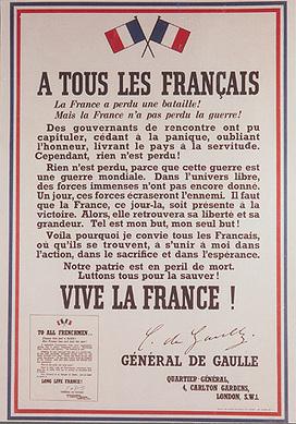 Appel du 18 juin 1940 - l'appel à la Résistance lancé par le général de Gaulle | Histoire de France | Scoop.it