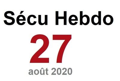 Sécu Hebdo 27 du 1er août 2020