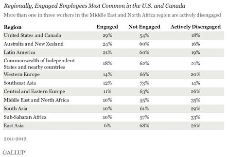 Worldwide, 13% of Employees Are Engaged at Work | Nemetics | Scoop.it