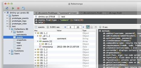 Robomongo — shell-centric MongoDB management tool (MongoDB Admin UI) | node web programming | Scoop.it