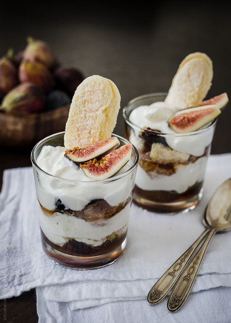 Honeyed Fig Trifle with Goat Cheese Mascarpone Yogurt Cream | Kitchen Confidante | nature and life lessons | Scoop.it