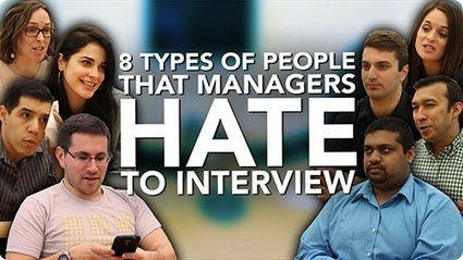 8 Types of People Managers HATE To #Interview | Guerrilla Resumes | Scoop.it