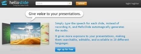 Dale voz a tus presentaciones con Hello Slide | Educadores Hoy | Scoop.it