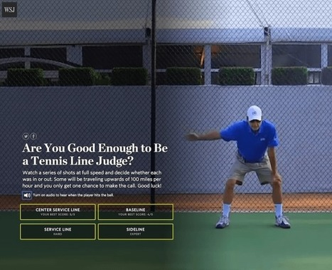 Be a tennis line judge: Interactive tests your skills | Dr. Goulu | Scoop.it