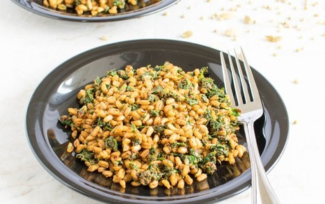 Masala Spinach Farro [Vegan] | My Vegan recipes | Scoop.it