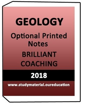 Geology Optional Printed Notes Brilliant Coachi