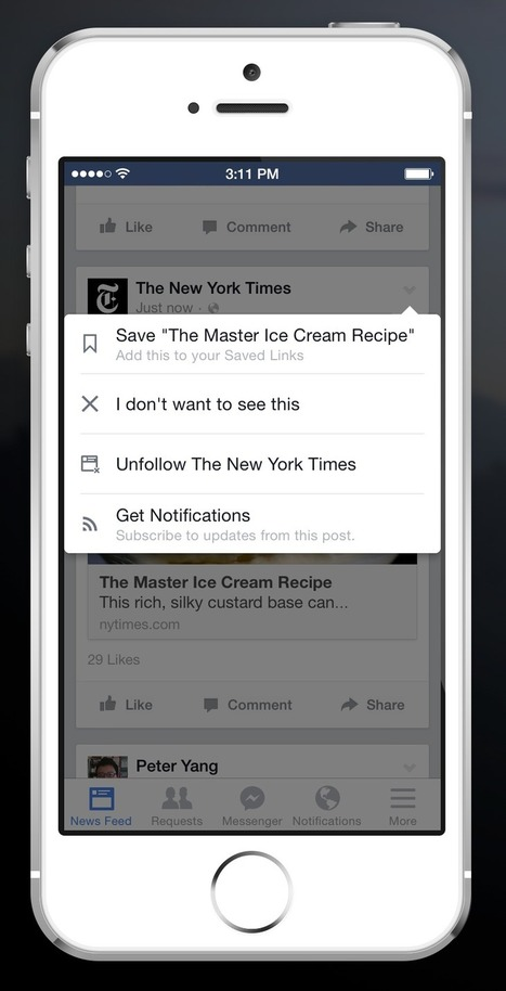 Facebook: Neues Feature speichert Timeline-Inhalte | Collaborative Content-Curation: new Forms of Reading & Writing #curation #journalism #education #e-learning | Scoop.it