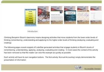 Climbing Bloom's Taxonomy in Online Learning   Leadership in Distance Education   Bloom's taxonomy   Scoop.it
