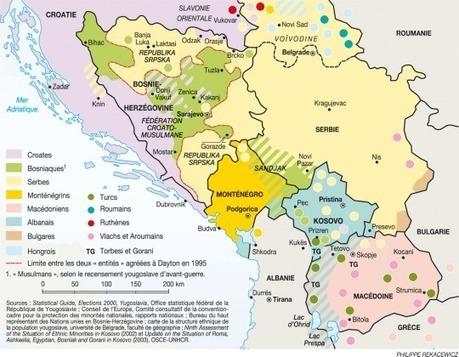 Carte Deurope Yougoslavie.Carte Redistribution Ethnique Dans L Ex Yougo