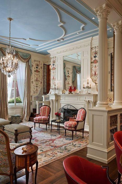 Feast for the Senses: 25 Vivacious Victorian Living Rooms | Designing Interiors | Scoop.it