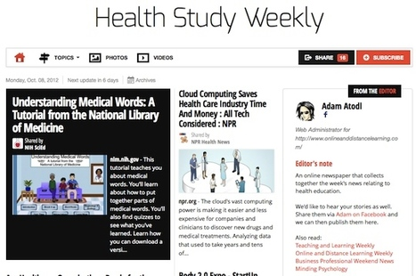 Oct 8 - Health Study Weekly is out | Health Studies Updates | Scoop.it