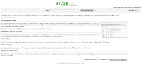 Analyseur de pages Web - Alyze   Time to Learn   Scoop.it