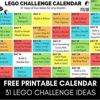 #LEGO #Challenge #Calendar Free Printable for Kids | Differentiation Strategies | Scoop.it