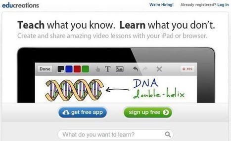 Educreations, crea vídeo tutoriales desde tu iPad o navegador web - | Aplicaciones para crear | Scoop.it