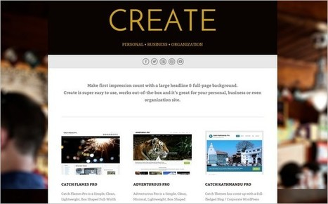 5 New Eye-catching Free WordPress Themes for January 2015 | Free & Premium WordPress Themes | Scoop.it