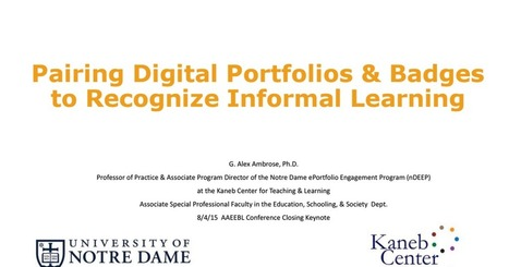 Ambrose Pairing Digital Portfolios & Badges for Informal Learning--Share.pdf | Digital Badges and Alternate Credentialling in Higher Education | Scoop.it