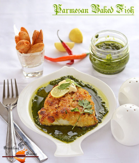 Healthyrecipe baked parmesan fish with green for Baked parmesan fish